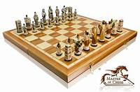 "marble chess pieces EXCLUSIVE ""ENGLAND"" MARBLE CHESS SET 60cm x 60cm - BEAUTIFUL HAND PAINTED PIECES 