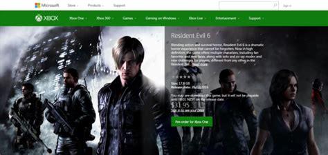 Resident Evil Order Resident Evil 6 Xbox One File Size Revealed Now Up For