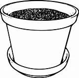Soil Flowerpot Clip Clipart Clker sketch template