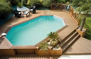 Grande Piscine Hors Sol : piscine hors sol bois id es et conseils pour votre jardin ~ Premium-room.com Idées de Décoration