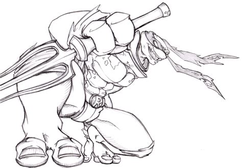 Ninja Turtles Raphael Drawings