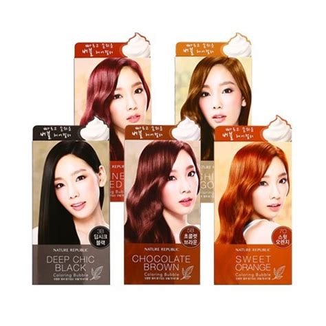 Coloring Hair Korean by Nature Republic Hair And Nature Coloring Korean