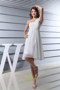 ivory empire waist chiffon wedding dress short ivory With empire waist short wedding dress