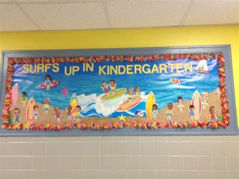 Beach Theme Bulletin Board. Surfs Up In Kindergarten