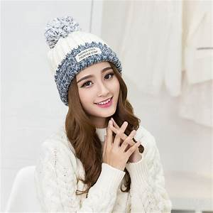2017 New Fashion Winter Hats For Women Wool Letter Pompon ...