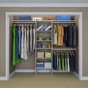 Closetmaid Selectives 83 In  H X 120 In  W X 14 5 In  D Basic Closet System In White-17029