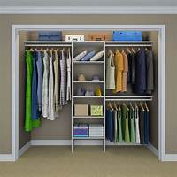 home depot closet organizer ClosetMaid Selectives 83 in. H x 120 in. W x 14.5 in. D Basic Closet System in White-17029 - The ...