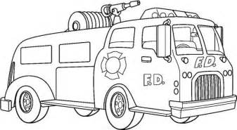 fire trucks coloring page images