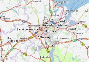 Auto Mieten Lübeck : karte stadtplan l beck viamichelin ~ Yasmunasinghe.com Haus und Dekorationen