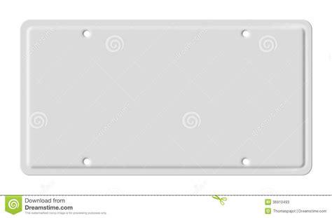Blank Car Plate Stock Photos