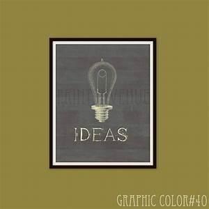 Edison light bulb wall art ideas office decor