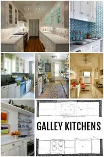 Galley Kitchen With Island Layout Remodelaholic Popular Kitchen Layouts And How To Use Them