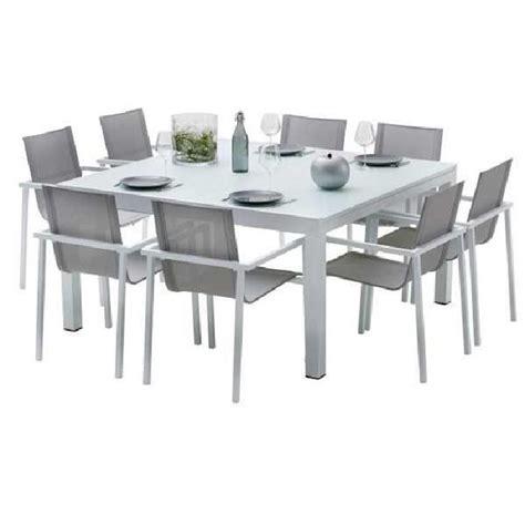 ensemble table chaise jardin salon de jardin resine pas cher reference maison