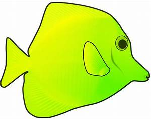 Clipart - yellow fish