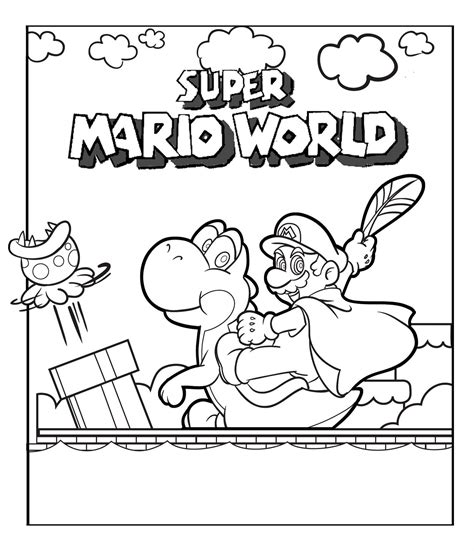 As you paint your pictures, you can download, paint and share the beaut. Printable Mario Coloring Pages