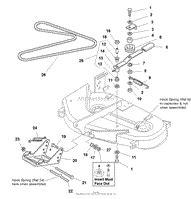 Simplicity Mower Deck Parts Diagrams