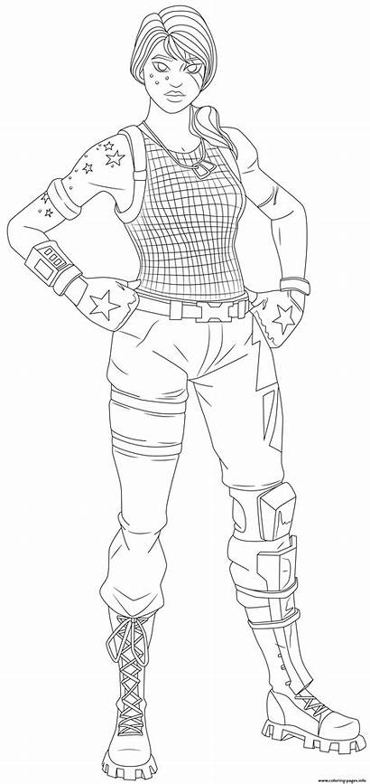Fortnite Coloring Skin Specialist Sparkle Printable Coloriage