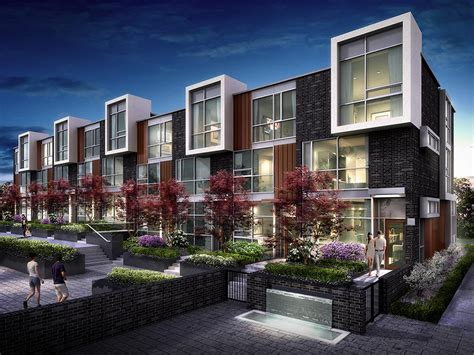 modern townhouses differentiation and cohesion 101 erskine townhomes image gallery toronto