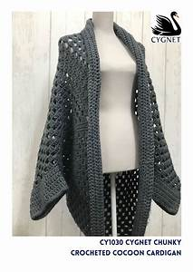 Crocheted Cocoon Cardigan Crochet Kit And Pattern In