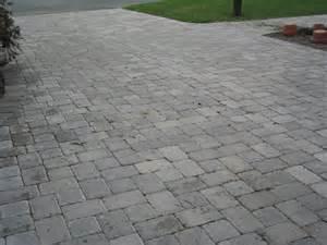 Driveway Brick Pavers On Concrete