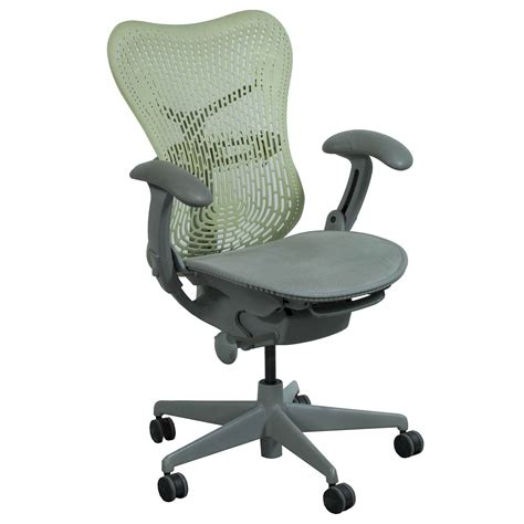 herman miller mirra used mesh seat pistachio national