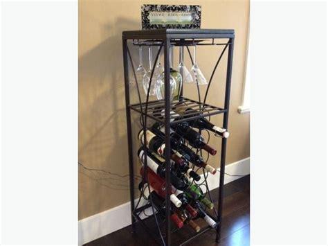 granite top iron wine rack pier1 imports west shore