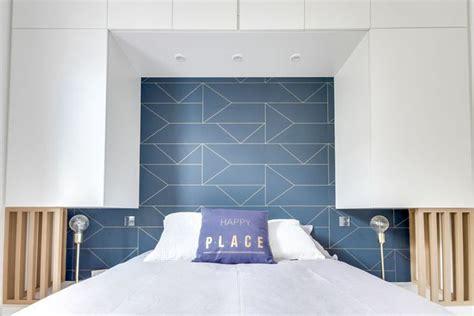 chambre a coucher adulte maison du monde papier peint graphique tendance déco murale côté maison