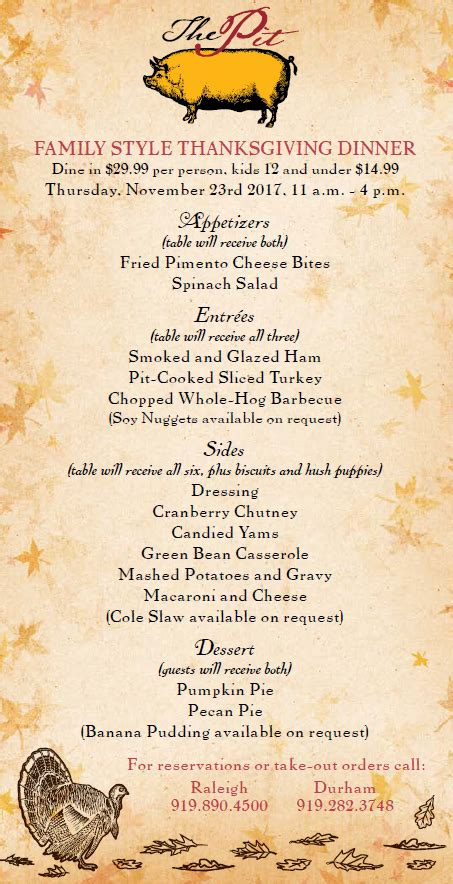 Kitchen Kabaret Thanksgiving Menu by Thanksgiving Archives Nc Triangle Dining