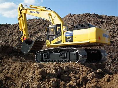 Komatsu Excavator Wallpapers Bulldozer Pc490lc Excavadora Radiocontrol