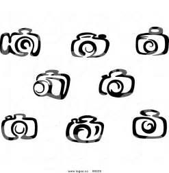 Camera Vector Clip Art Black and White