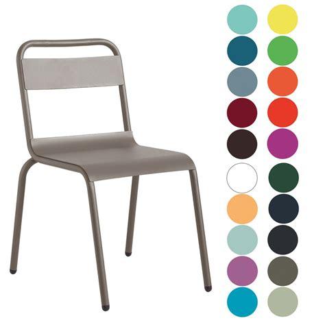 chaise couleur chaise de terrasse aluminium couleur au choix cis 8055