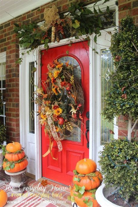 outdoor fall decorating ideas   front porch