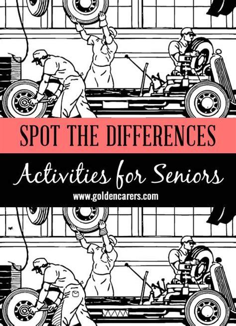spot  differences  elderly activities senior