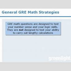 5 Gre Lesson General Gre Math Strategies Youtube