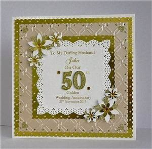 personalised golden 50th wedding anniversary card for wife With 50th wedding anniversary gifts for my wife