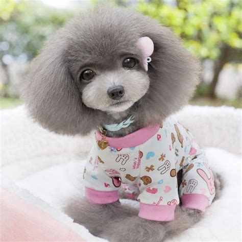 Cute Sweet Printed Pets Dog Pajamas Cotton Pet Doggy Puppy Cat Apparel Clothes Coat For Sleeping