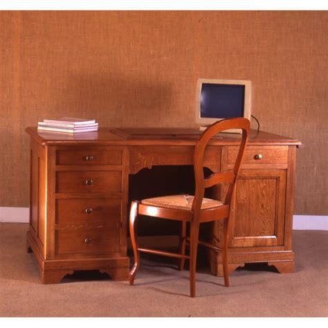 grand bureau informatique grand bureau chêne louis philippe meubles de normandie