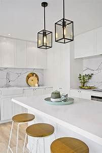 Pendant lighting island bench : Best ideas about hamptons kitchen on