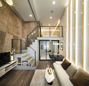 Luxurious, Compact, Modern, Condo, Apartment, With, Double, Height, Ceiling