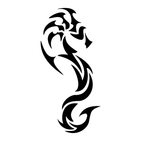 Tattoo Of Tribal Seahorse, Patience, Tenacity Tattoo