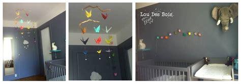 guirlande pour chambre bébé lou des bois origami une chambre pour un bébé