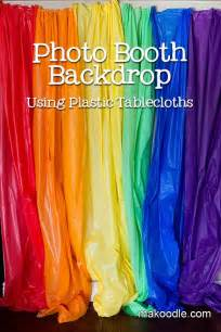 Photo Booth Backdrop Using Plastic Table Cloths