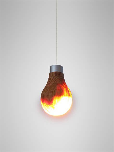 Lampe Design Ampoule En Bois
