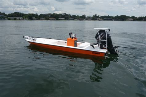 Orange Boat by 2015 Orange Caimen With Mercury 60 East Cape Skiffs