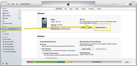 restore iphone from itunes downgrade and restore your ios 7 beta iphone to it s
