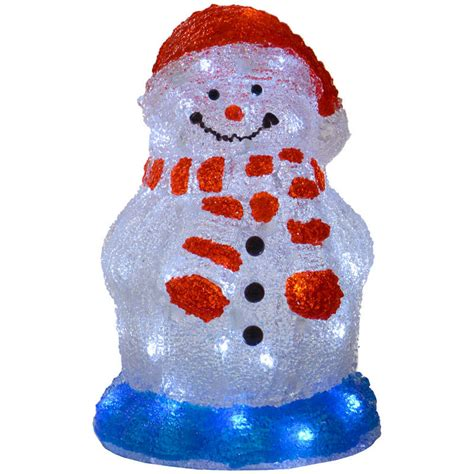 light up snowman indoor 30cm acrylic light up snowman decoration l with white