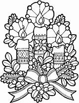Candles Christmas Coloring Pages Printable Candle Colouring Print Sheets Xmas Printables Holiday Tree Decoration Colored Labels Bookmark sketch template