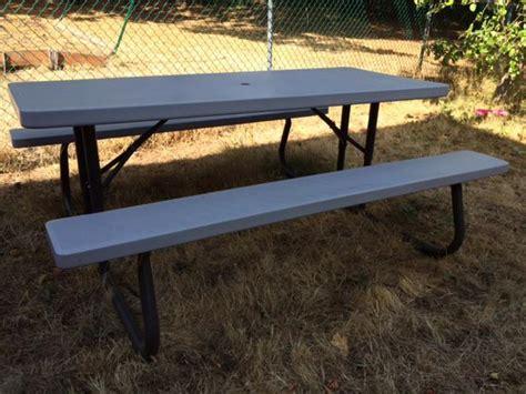folding picnic table costco lifetime 6 ft folding picnic table saanich victoria