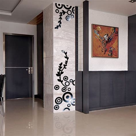 A wide variety of circle wall decorative mirror options are available to you, such as usage, material, and season. Creative DIY column circle ring rambling vine acrylic mirror wall stickers home decor 3d room ...
