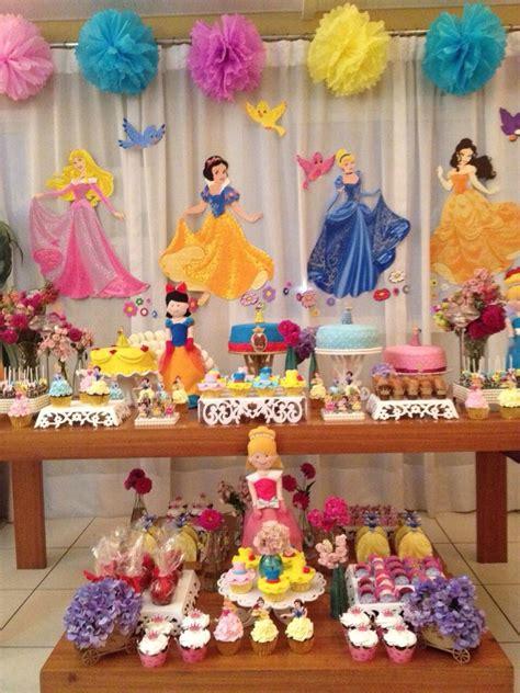Festa Princesas Disney Diy  Festa  Menina Pinterest